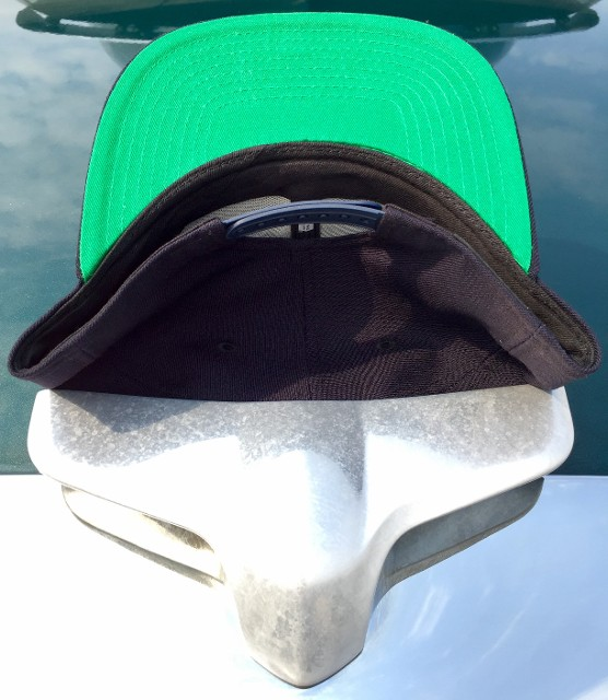 Navy Hat, Underside and Back